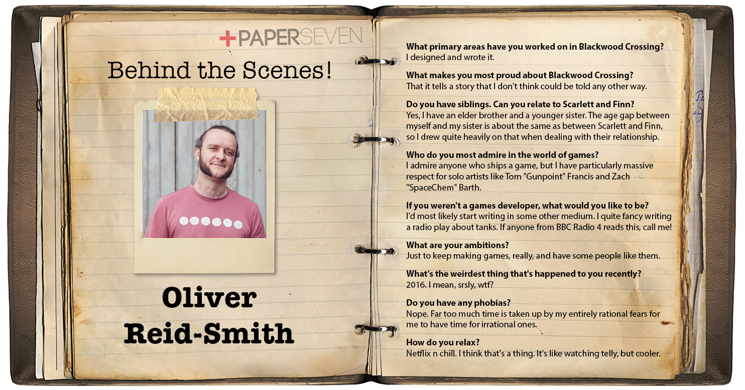 Behind the Scenes, BTS, Oliver Reid-Smith