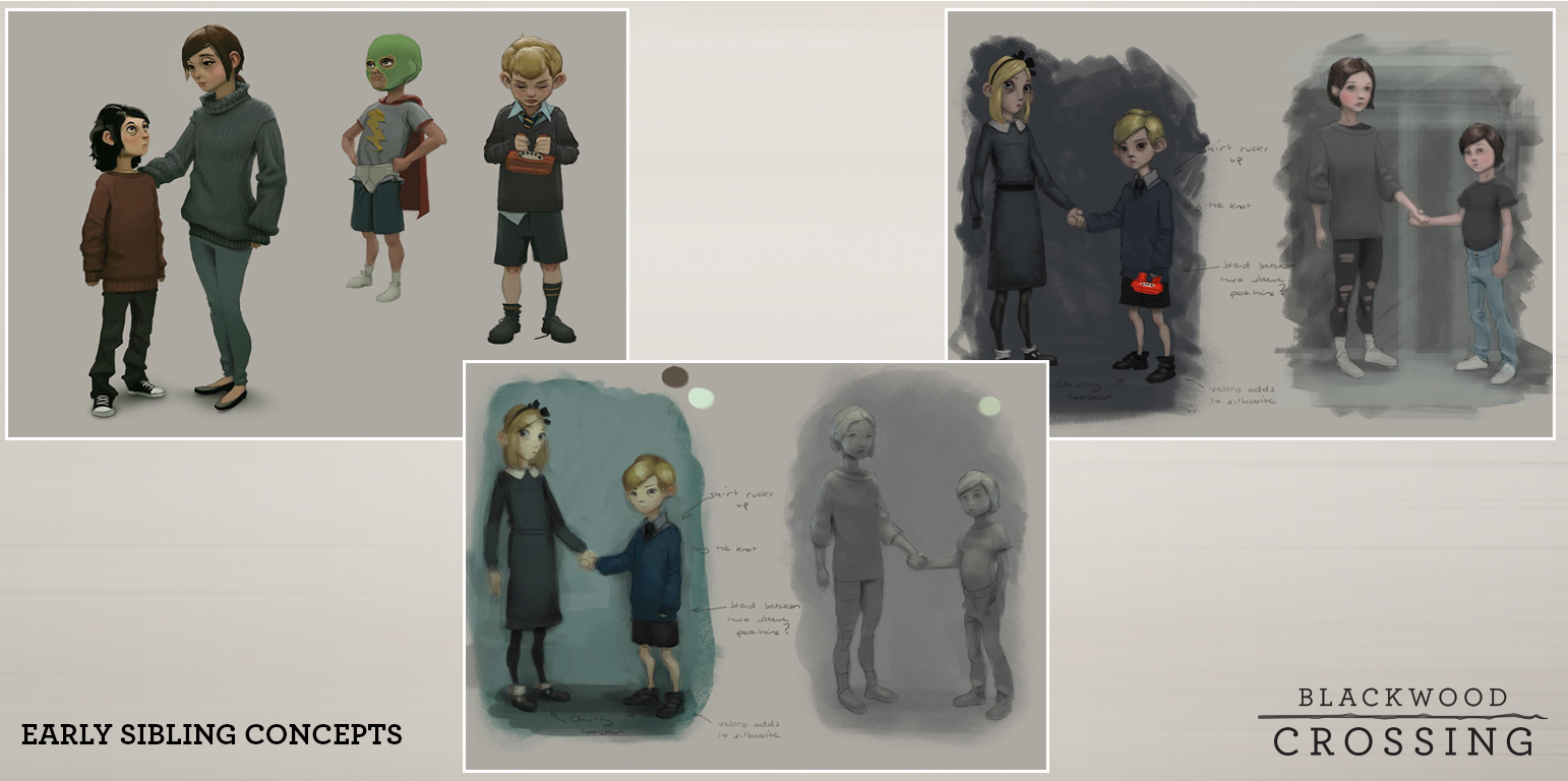 Early Sketches of Finn and Scarlett